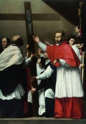 Carlo Saraceni, Ostensione del Sacro chiodo con San Carlo Borromeo, Roma, San Lorenzo in Lucina