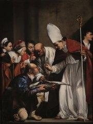 Carlo Saraceni, San Benno ritrova le chiavi della città di Meissen nel ventre di un pesce, Roma, Chiesa di Santa Maria dell'Anima