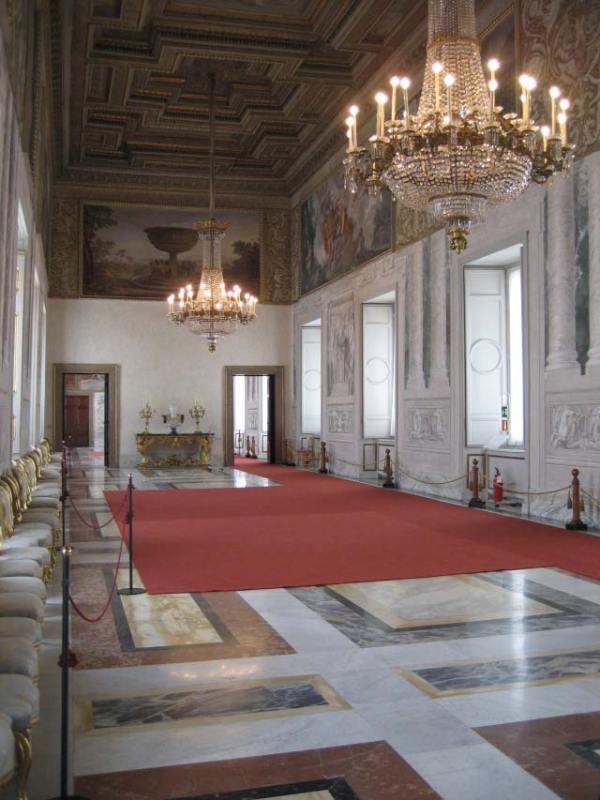 Palazzo del Quirinale – Veduta della Sala di Augusto dopo il restauro