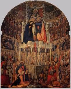 Antonio Vivarini e Giovanni d'Alemagna, Incoronazione della Vergine, Venezia, chiesa di San Pantalon © Wikipedia