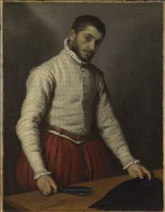 11. Giovanni Battista Moroni, Il sarto, olio su tela, 99.5 x 77 cm, The National Gallery, London