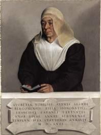 3. Giovanni Battista Moroni, Ritratto della badessa Lucrezia Agliardi Vertova, olio su tavola, 91.4 x 68.6 cm, New York, The Metropolitan Museum of Art