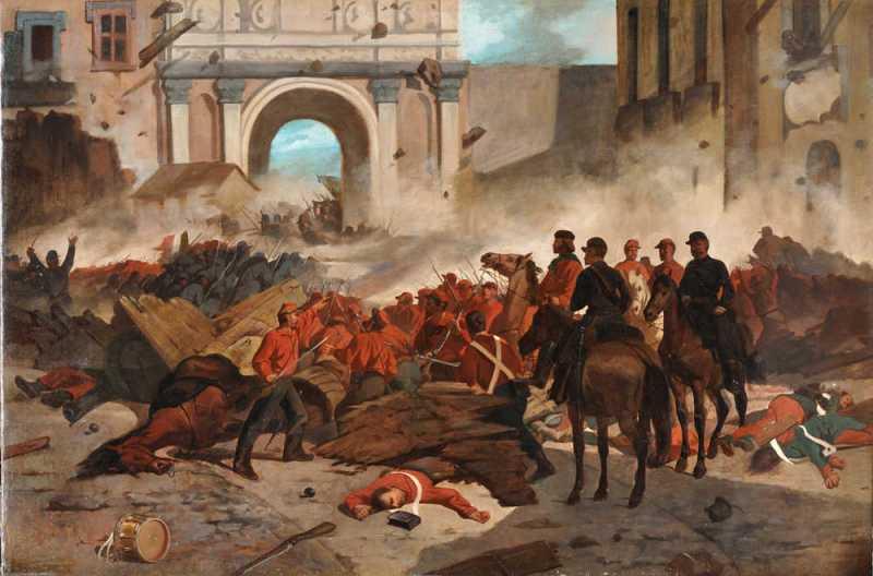 Giovanni Fattori, Garibaldi a Palermo, 1860-61, olio su tela, Brescia, collezione privata