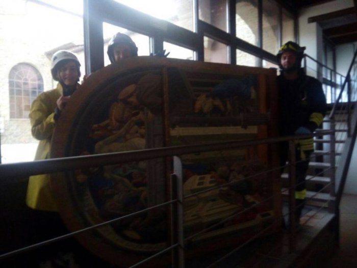 5a. Salvataggio dell'Annunciazione di Giovanni Angelo d'Antonio. Photo: Museo civico e Pinacoteca di San Domenico