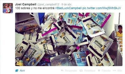 100 pacchetti di figurine, ma di Joel Campbell neanche l'ombra. Ora il Mondo lo conosce meglio...