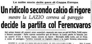 Polemiche dopo la partita d'andata tra Ferencvaros e Lazio nel 1937