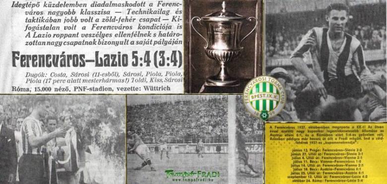 La finale Lazio-Ferencvaros celebrata dalla stampa ungherese