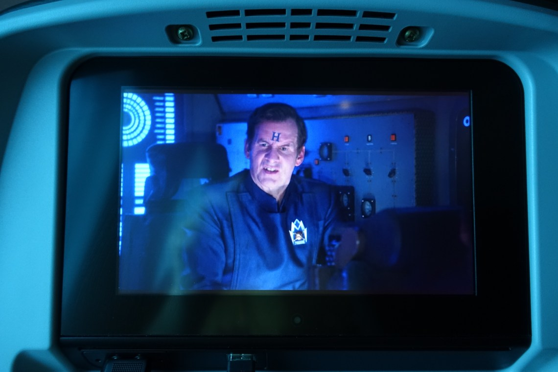 Rimmer displaying on a seat back screen