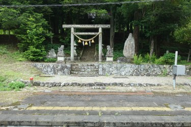 Shrine and torii
