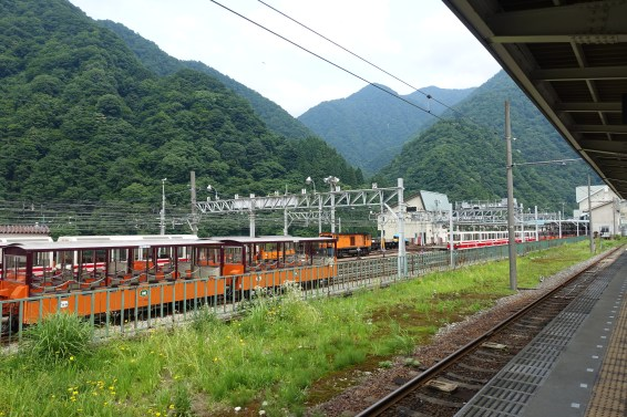 Kurobe Gorge Railway wagons