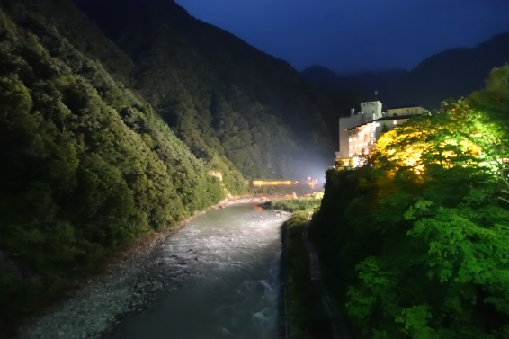 Kurobe River at night