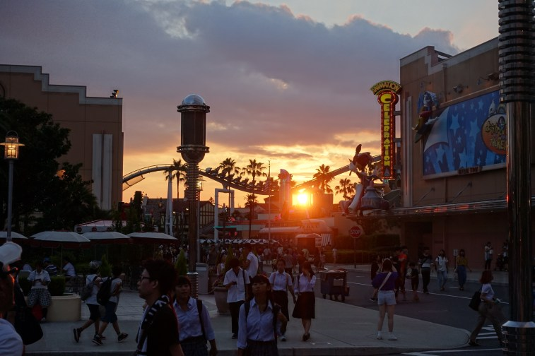 Sunset over Universal Studios