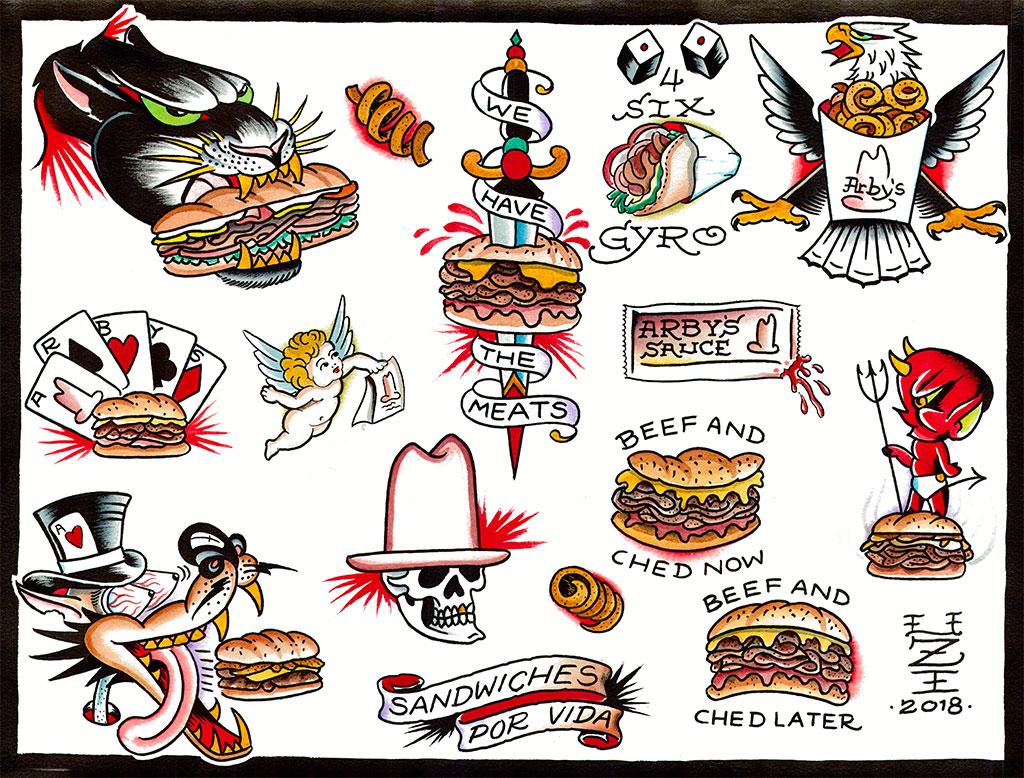 Arby's free tattoos