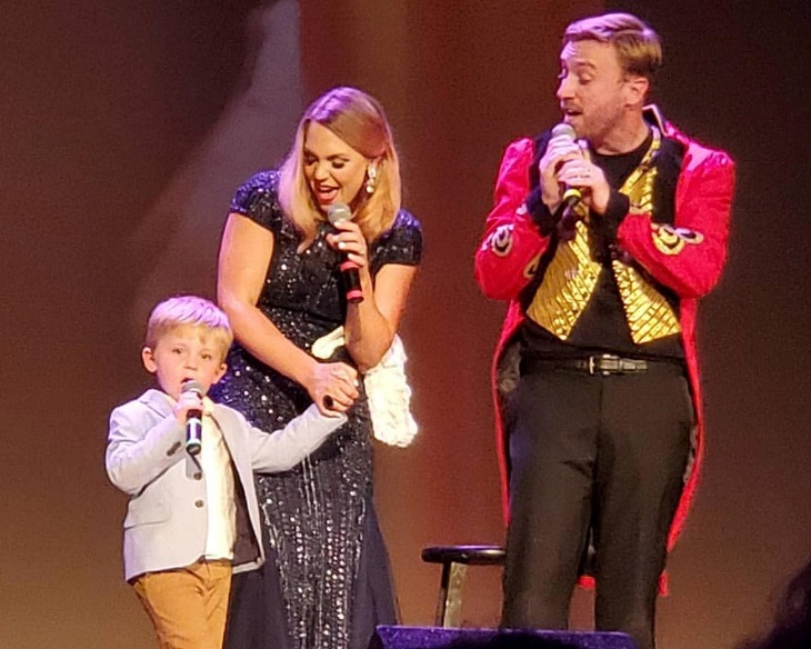 Hollens family performing onstage
