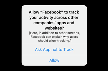 Allow Facebook to Track Your Activity Message