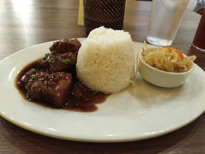 Pork Adobo with Rice by Juan's Bistro