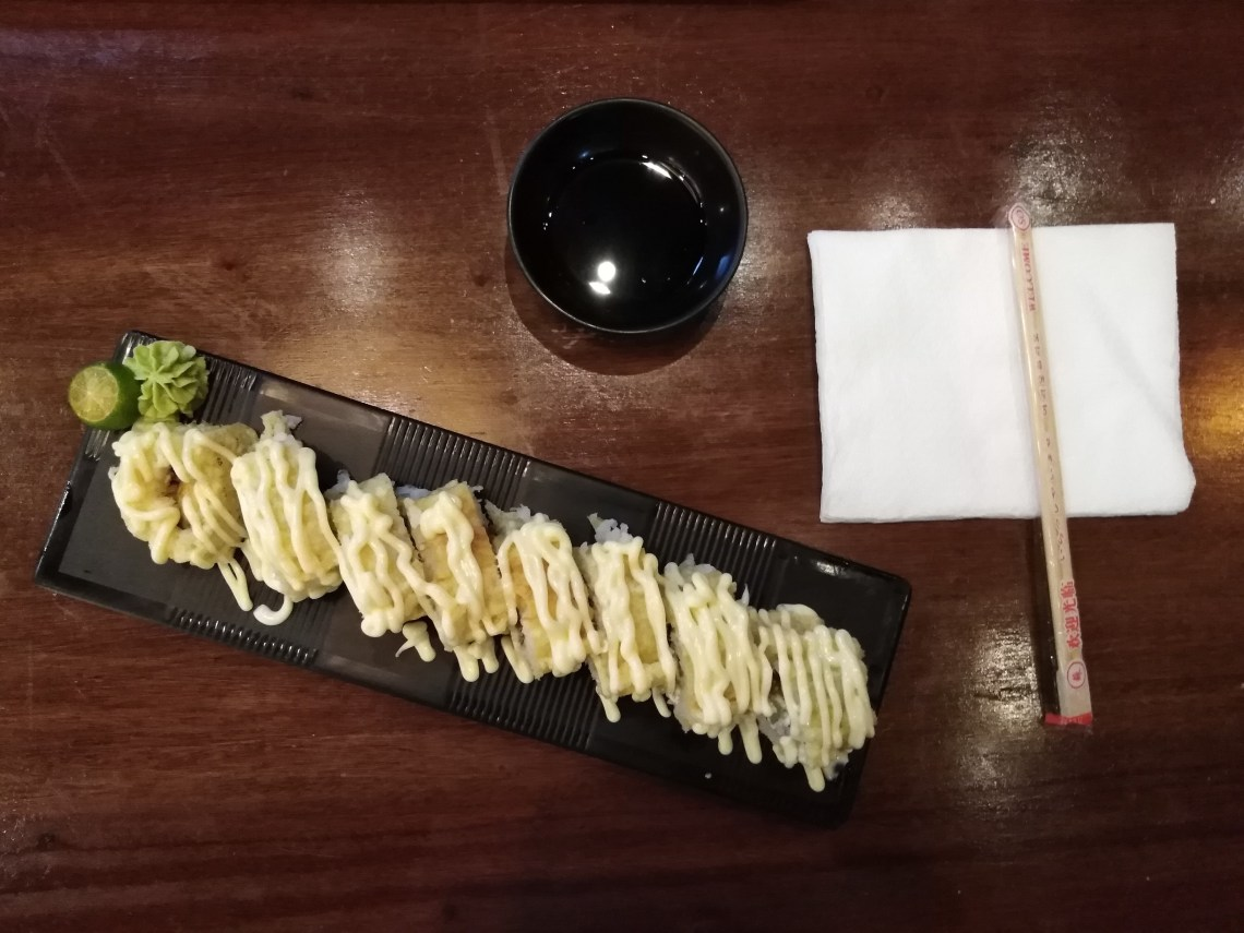 Fried Salmon Skin Roll by Boru