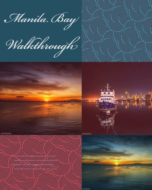 A Walk Through of Manila Bay's Sunset and Night Scene