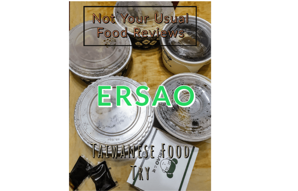 Not Your Usual Food Reviews: Ersao