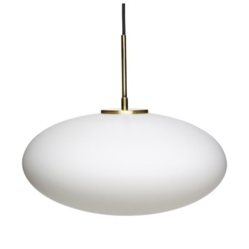 Pendant Lamp | White, Brass