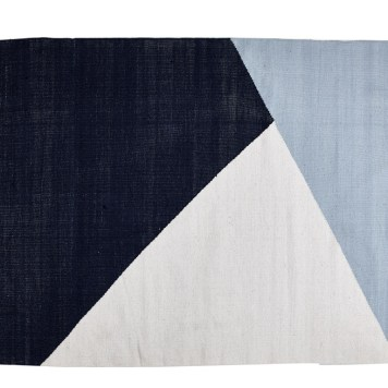 Wool Rug Horizon | Blue / White