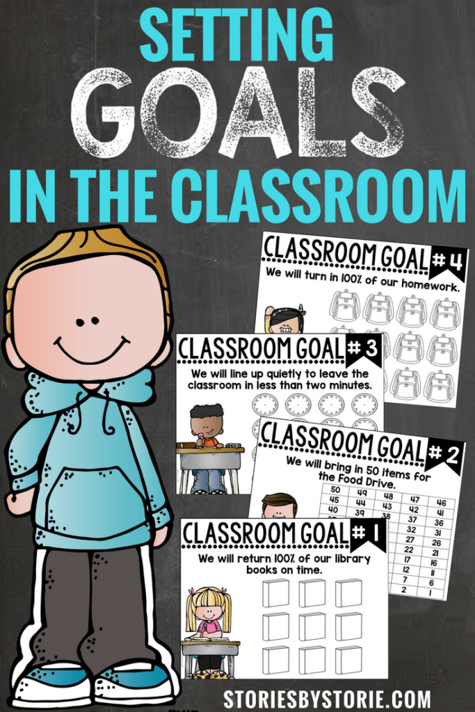 Goals help set a purpose and a direction for where you are headed.  While you are building your classroom community, why not take the time to make some common goals that EVERY student in your classroom can work towards?  Here's a little glimpse into how I do this in my classroom.