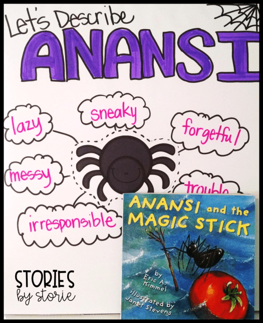 Anansi and the Magic Stick Anchor Chart for Character Traits