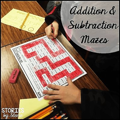 Math Mazes (Addition and Subtraction)