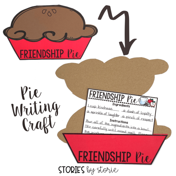 After reading Enemy Pie, students will create their own recipe for Friendship Pie. The recipe card can be placed inside this friendship pie craft.