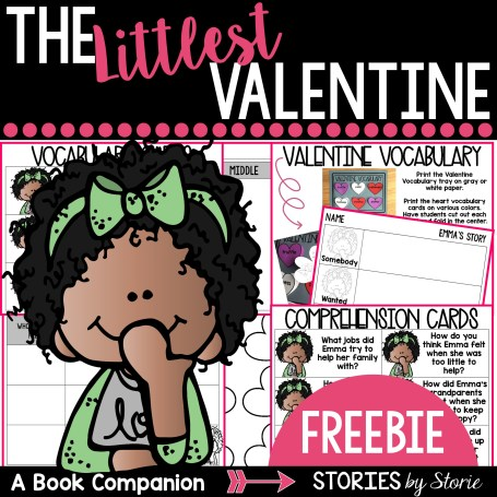 FREE Mini Book Companion for The Littlest Valentine when you sign up to join my Resource Library.