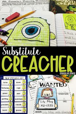 Substitute Creacher Book Activities