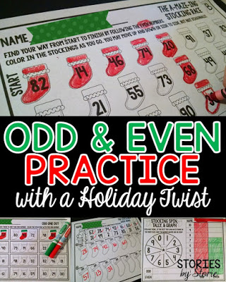 Odd & Even Practice with a Holiday Twist
