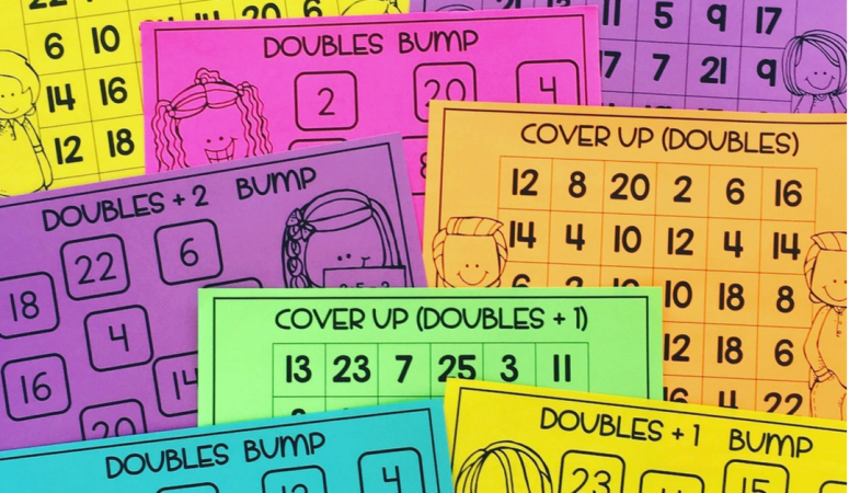 Math Games for Doubles, Doubles +1 and Doubles +2