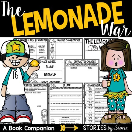 This book companion for The Lemonade War contains comprehension questions and a vocabulary matching activity for each chapter of the story. There are also several graphic organizers to help guide students as they read. Answer keys are included!