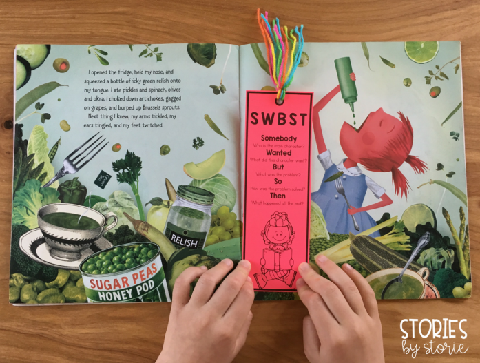 These bookmarks are a great tool that students can use during independent reading. They help prompt students to summarize a story using the SWBST strategy after finishing a story.