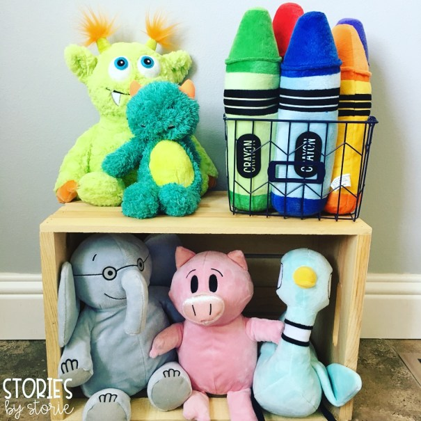 Stuffed animals should have a designated area in the classroom. This can be on a bookshelf, in a tub, or even by the window.