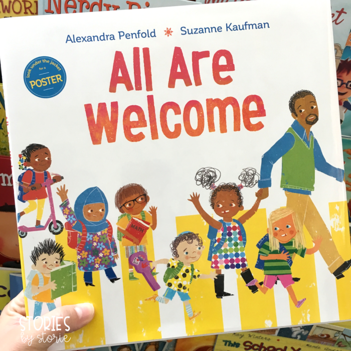 All Are Welcome by Alexandra Penfold is a great book to read on the first day of school.