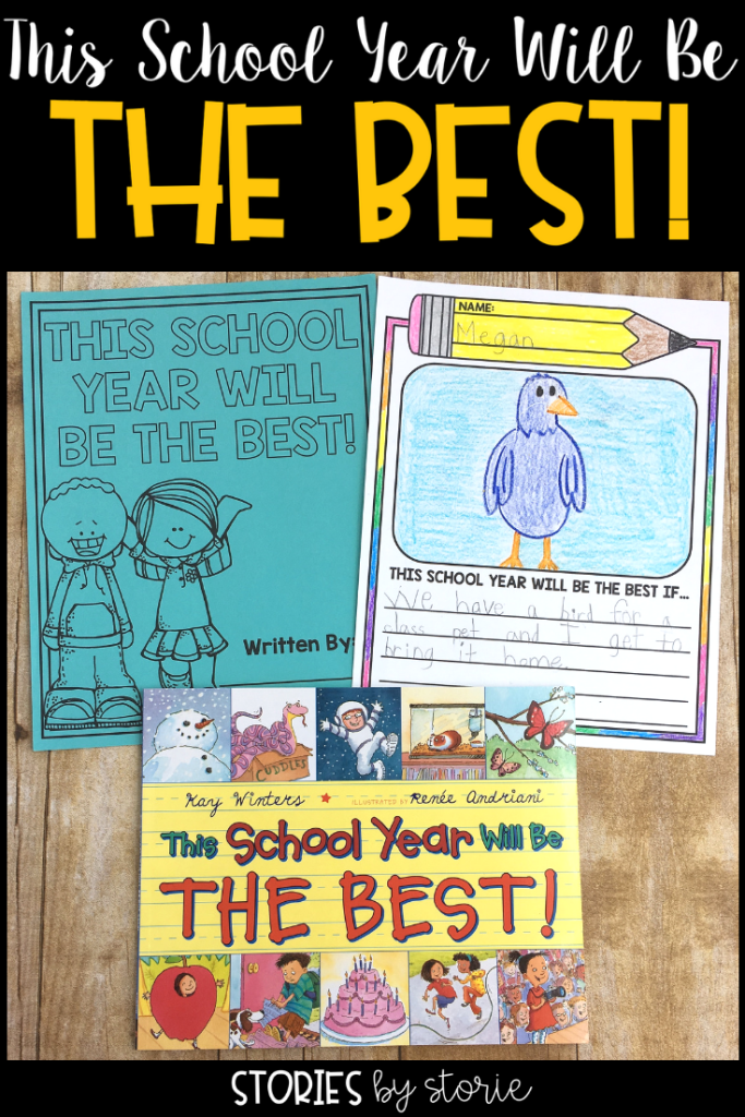 Do you walk into a new school year thinking that this school year will be the best? Of course you do! So why not start off by reading This School Year Will Be THE BEST! by Kay Winters. I want to share a little writing project you can use with this story.