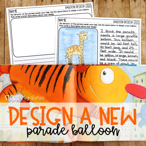After reading Balloons Over Broadway by Melissa Sweet, you can allow students to create their own balloons for the parade. There are two options included to help fit the needs of your students.