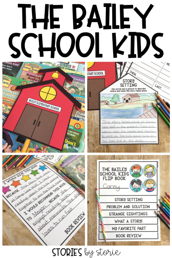 Are your students reading the Bailey School Kids books? This flip book and school house craft booklet will allow your students to work their way through any of the chapter books in the series while focusing on several different reading skills.