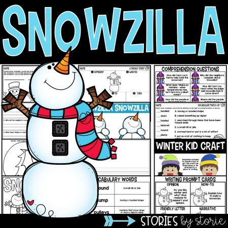 This Snowzilla book companion contains comprehension questions, a sequencing activity, graphic organizers, vocabulary activities, and a winter kid craft that your students will enjoy!