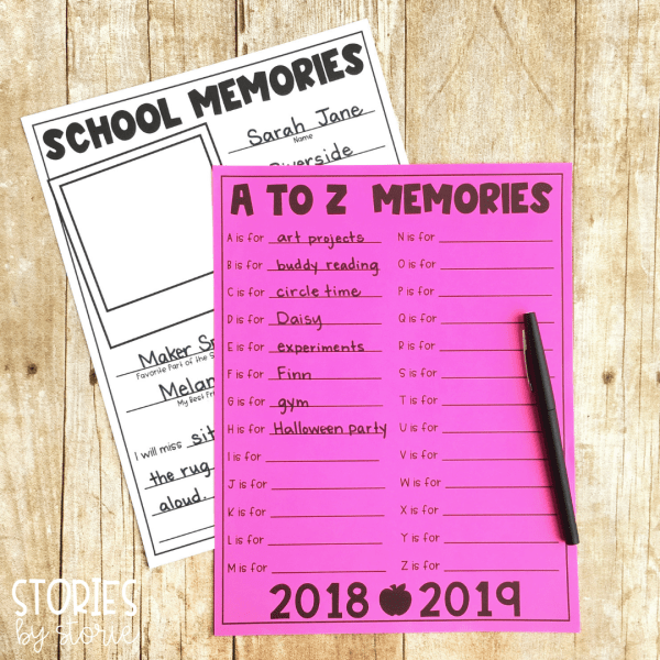 Last Day Blues Freebies - students can reflect on their own school memories using these two pages. These are perfect for the end of the school year.