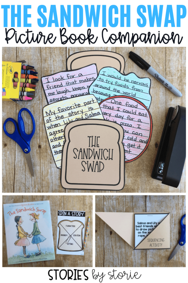 This picture book companion for The Sandwich Swap contains comprehension questions, a sequencing activity, vocabulary cards, graphic organizers, and a sandwich craft & writing booklet.