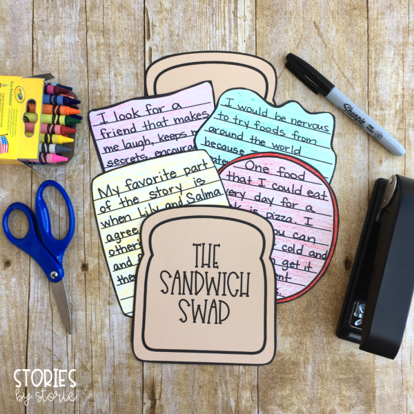 After reading The Sandwich Swap, students can create this sandwich craft booklet. I have included several ideas for writing prompts, but you can also choose your own.