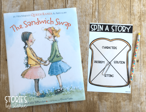 After reading The Sandwich Swap, students can review story elements with this sandwich-themed spinner.