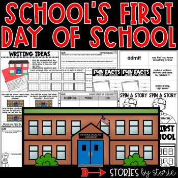 This book companion for School's First Day of School by Adam Rex contains comprehension and vocabulary activities along with a school craft and writing booklet.