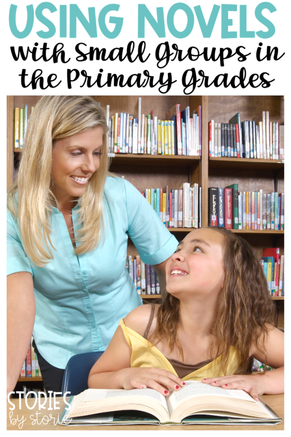 Have you thought about using novels with small groups, but aren't sure where to start? It is definitely possible to do so in the primary grades! Here's how I got started using chapter books with my second graders during my small group time.