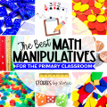 Math manipulatives keep students engaged and provide hands-on opportunities to make learning more concrete. Here are my favorite math manipulatives for the primary classroom.