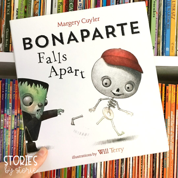 Bonaparte Falls Apart by Margery Cuyler is a story about friendship, humorous mishaps, and creative problem solving. It's sure to be a bone-a-fide hit for Halloween!