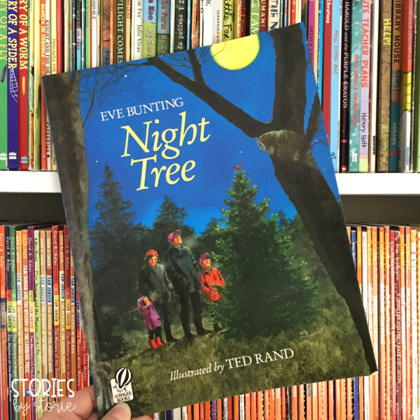 Night Tree by Eve Bunting tells a beautiful story about one family's yearly tradition to decorate a tree for the animals in the woods. This is a great book to add to your December read aloud collection.